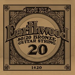 Imagem de Corda para Guitarra Acústica Ernie Ball Earthwood 80/20 Bronze Alloy .020 1420